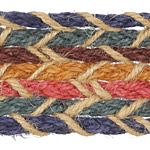 Mediterranean Banded Hemp Ribbon 40mm