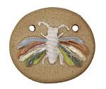 Gaea Ceramic Flutter Moth Pendant 41-42x36-37mm