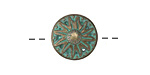 Zola Elements Patina Green Brass Flower Button 15.5mm