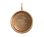Nunn Design Brass Small Deep Circle Bezel 26x34mm