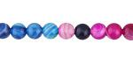 Jewel Tone Multi Agate Round 6mm