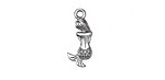 Zola Elements Antique Silver (plated) Small Mermaid Charm 9x20mm