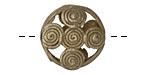 African Brass Wrapped Circles Coin 19-21mm