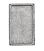 Nunn Design Antique Silver (plated) Rectangle Ornate Grande Brooch 28x46mm