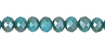 Green Turquoise AB Crystal Faceted Rondelle 8mm