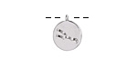 Rhodium (plated) w/ Crystals Taurus Constellation Charm 11x13mm