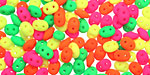 Bright Neon Mix SuperDuo 2.5x5mm Seed Bead