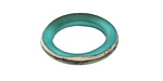 A Beaded Gift Silvered Light Teal Ring 22-24mm