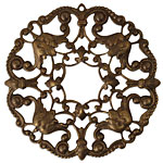 Vintaj Natural Brass Ornate Wreath Filigree 48mm