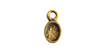 Nunn Design Antique Gold (plated) Bitsy Oval Bezel Charm 6x11mm