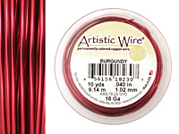 Artistic Wire Burgundy 18 gauge, 10 yards