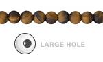 Tiger Eye (Matte) Round (Large Hole) 6mm