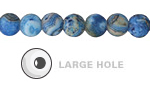 Larimar Blue Crazy Lace Agate (Matte) Round (Large Hole) 8mm