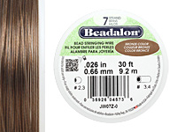 "Beadalon Bronze .026"" 7 Strand Wire 30ft."