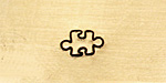 Puzzle Piece Metal Stamp 6mm