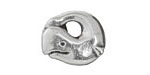 Greek Pewter Whale Pendant 21mm