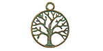 Zola Elements Patina Green Brass Tree of Life Charm 19x23mm