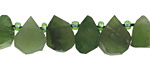 Canadian Jade (matte) Teardrop Slice 9-16x13-18mm