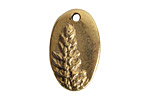 Nunn Design Antique Gold (plated) Redwood Charm 13.5x21.5mm