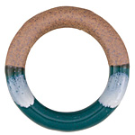 Forest Green Half-Glazed Porcelain Ring Focal 47-50mm