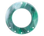 Zola Elements Emerald Marbled Acetate Donut Chandelier 38mm