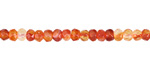 Red Agate Faceted Rondelle 3x4mm