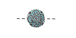 Greek Copper (plated) Patina Designed Puff Bead 15x7mm