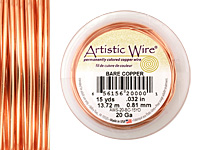 Artistic Wire Bare Copper 20 gauge, 15 yards