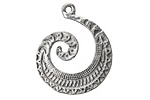 Zola Elements Antique Silver (plated) Relic Swirl Focal 26x30mm