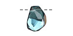 Metallic Gold Aquamarine (syn.) Faceted Nugget Drop 12-14x15-19mm