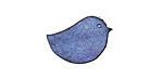 Lillypilly Denim Blue Leather Right Facing Chickadee 14x22mm
