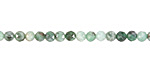 Green Chalcedony Faceted Round 2.5mm
