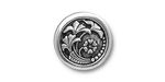 TierraCast Antique Silver Czech Flower Button 18mm