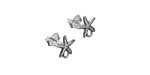 Nina Designs Sterling Silver Starfish w/ Loops Post Earring w/ Back 8x9mm