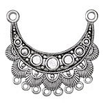 Zola Elements Antique Silver (plated) Scalloped Focal Link 45x41mm