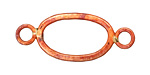 Patricia Healey Copper Large Oval Link w/ 2 Loops 42x17mm