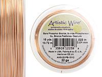 Artistic Wire Bare Phosphor Bronze 22 gauge, 15 yards