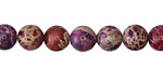 Purple Impression Jasper Round 8mm
