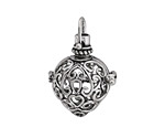 Antique Silver Finish Filigree Heart Diffuser Locket 24x35mm