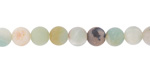 Black Gold Amazonite (matte) Round 6mm