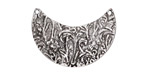 Zola Elements Antique Silver (plated) Floral Wavy Crescent Focal Link 29x20mm