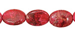 Ruby Impression Jasper Flat Oval 16x12mm