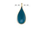 Zola Elements Peacock Enamel Matte Gold Finish Teardrop Focal 11x24mm