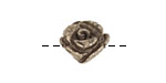 Golden Pyrite (silver tone) Carved Rose 16mm