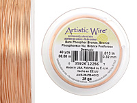 Artistic Wire Bare Phosphor Bronze 28 gauge, 40 yards