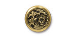 TierraCast Antique Gold (plated) Czech Flower Button 18mm