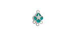 Turquoise Enamel Stainless Steel Star Chandelier 1-3 Link 11x7mm
