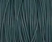Iris Blue Round Leather Cord 1.5mm