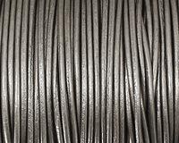 Gray (metallic) Round Leather Cord 1.5mm
