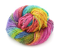 Fairy Garden Sparkle Lace Weight Silk Yarn